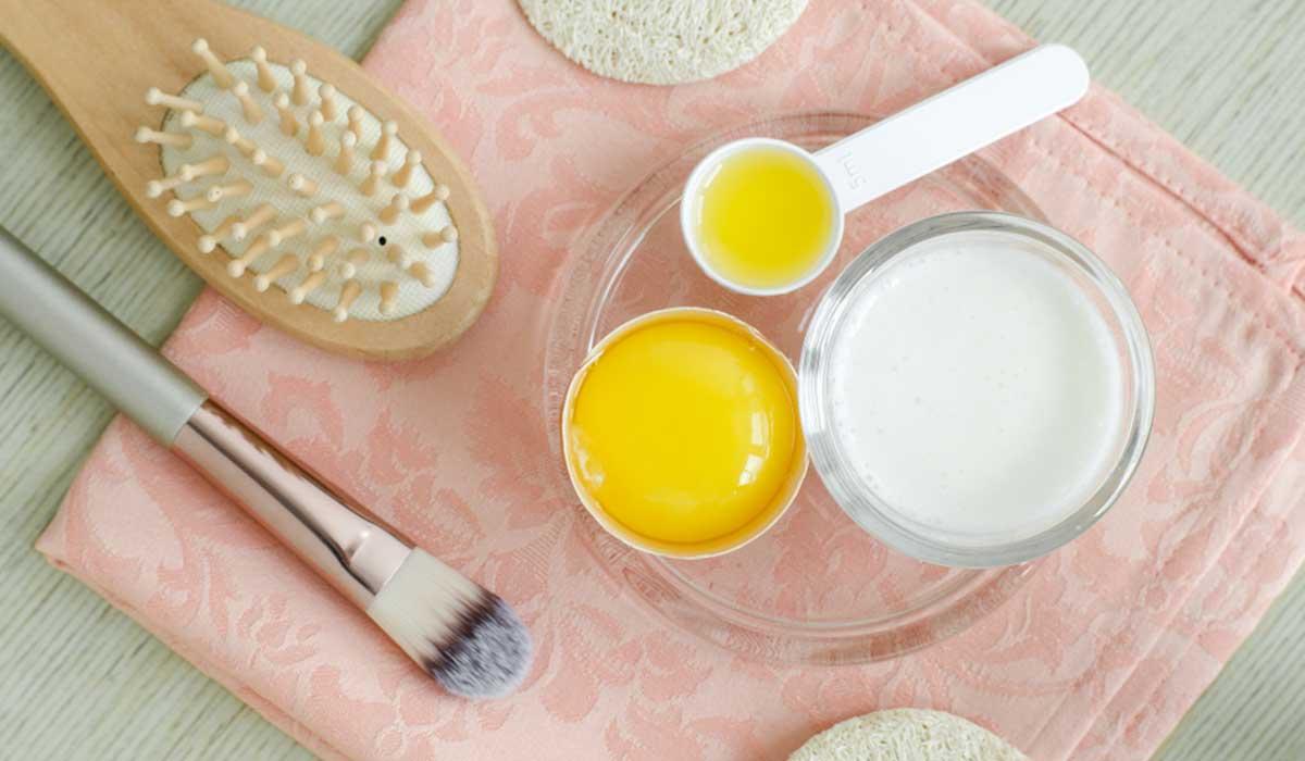 علاج لتساقط الشعر وتكثيفه وماسك الزبادي